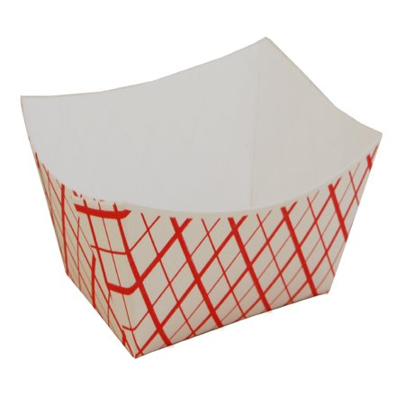 Southern Champion Tray SCH0409 Paper Food Baskets, Red/white Checkerboard, 1/2 Lb Capacity, 1000/carton](Hot Dog Paper Trays)