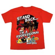 "Angry Birds Big Boys' ""Stand Back... I'm A Professional"" Tee - Size: XL (18/20)"