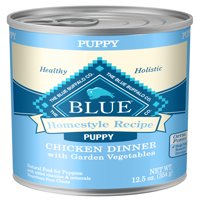 Blue Buffalo Homestyle Recipe Natural Puppy Wet Dog Food, Chicken, 12.5-oz cans, Case of 12
