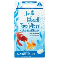 (2 Pack) Jungle Bowl Buddies Water Conditioner for Aquariums, 8-Count