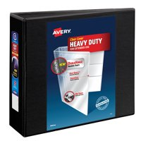 """Avery 3"""" Heavy Duty View Binder, One Touch EZD Ring, Black, 670 Sheets"""