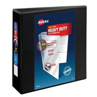 "Avery 3"" Heavy-Duty View Binder, 1-Touch Locking EZD Rings, Black"