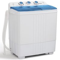 Della Small Compact Portable Washing Machine 11lbs Capacity with Spin Wash and Dryer