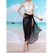 efafafe13c629 Women's Long Sarong Wrap Plus Size Floral Beachwear Wrap Dress Bathing Suit  Swimwear Swimsuit Cover ups