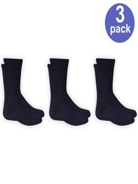 Wonder Nation Boys' Solid Crew Socks, 3 Pairs
