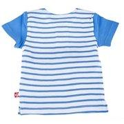 3963a2cb5 Zutano Baseball Tee- Periwinkle Breton Stripe, 6 Months