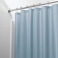 "InterDesign Waterproof Fabric Shower Curtain Liner, Standard 72"" x 72"", Slate Blue"