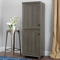 South Shore Hopedale 2-Door Narrow Storage Cabinet, Multiple Finishes