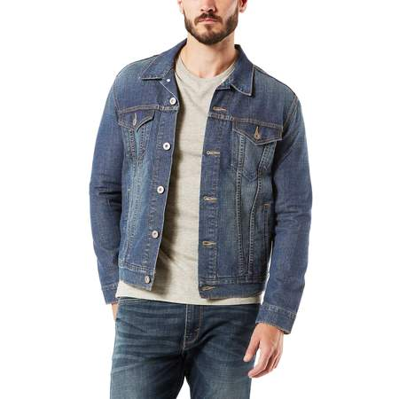 Mens Swift Hybrid Jacket - Signature by levi strauss & co. Men's Trucker Jacket