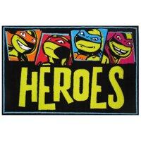 """Fun Rugs Nickelodeon Ninja Turtles Heroes Kids Rugs 19"""" x 29"""" Rug"""