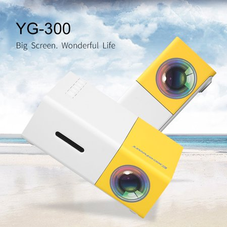 Mini Portable LED Projector, Outdoor Home Cinema Theater with PC Laptop USB/SD/AV/HDMI Input for Video TV Movie Party Game Home Entertainment