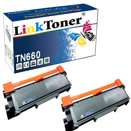 LinkToner Brother TN660 Compatible Toner Cartridge Replacement for Brother TN-660 BK & TN630 2 Pack Laser Printer
