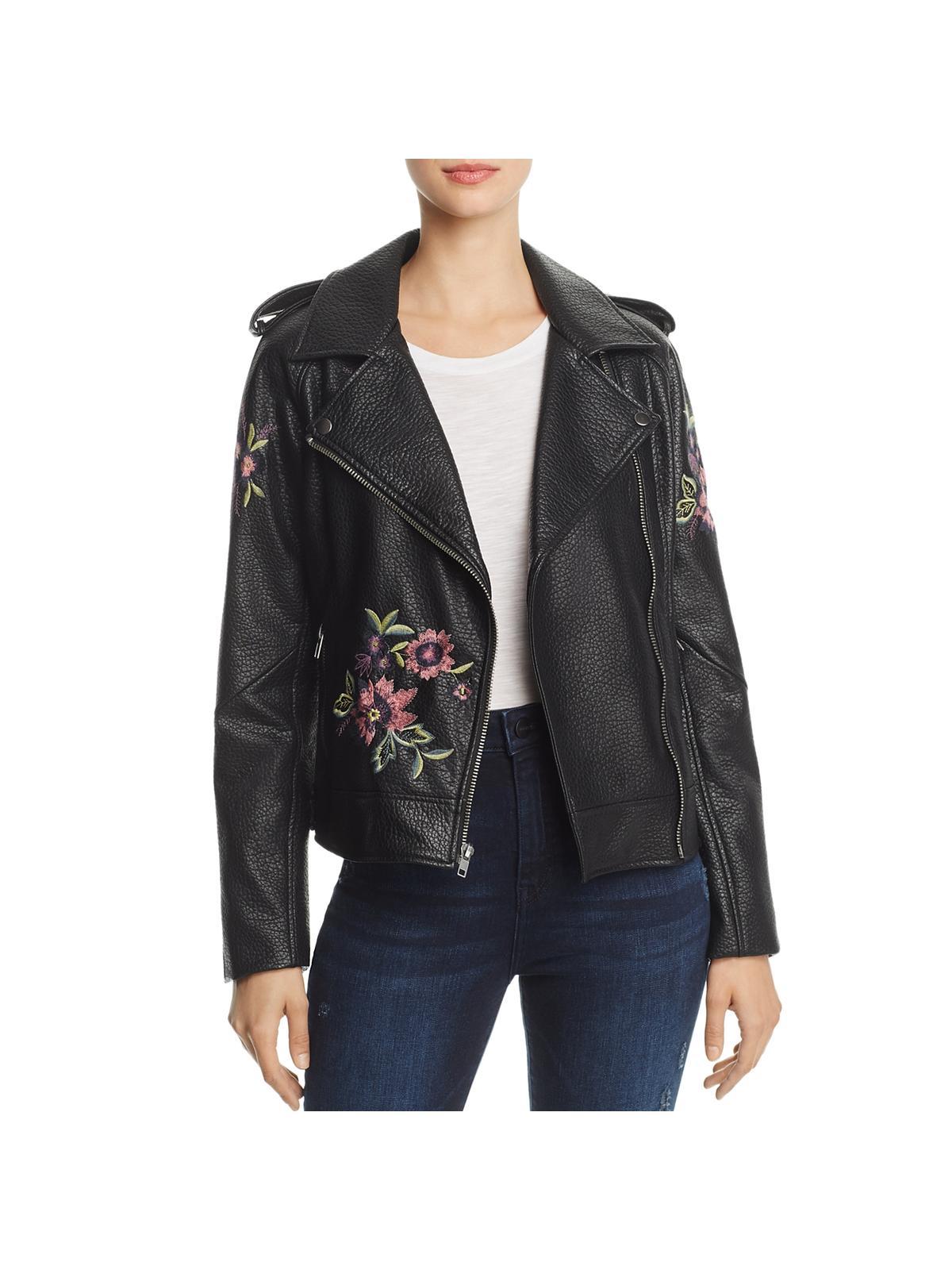 Women Removable Hood HOURGLASS PU Leather Motorcycle Ridin Biker Jacket Size XXL