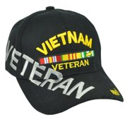 673b3872c6c Vietnam Veteran Army Strong Hat Cap Black Adjustable US Soldier Military  Nam War