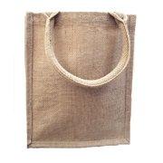 363c682f125 Burlap Tote Bags Jute Book Bag with Full Gusset (Pack of 6) (Natural