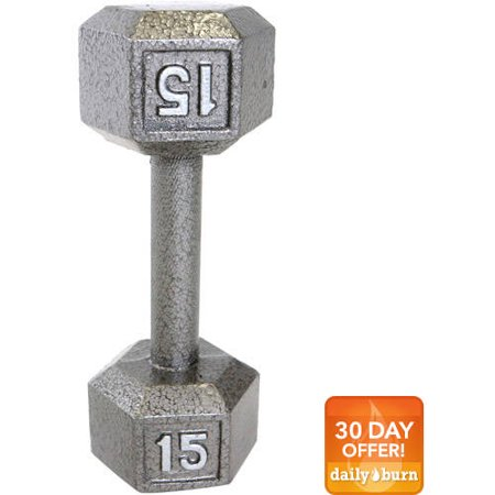 CAP Barbell Cast Iron Hex Dumbbell, Single (Chicken Dumbells)