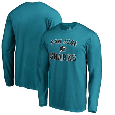 San Jose Sharks Fanatics Branded Victory Arch Long Sleeve T-Shirt - Teal - Halloween In San Jose