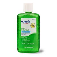 Equate Burn Relief Gel with Lidocaine, 8 Oz