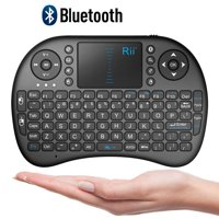 Rii Mini Bluetooth Touchpad Keyboard for PC/PAD/360XBox/PS3/Google Android TV Box/HTPC/IPTV, Black(i8 BT)