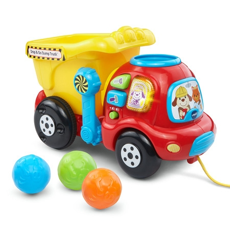 VTech Drop & Go Dump Truck With Colorful Rocks and Hinged Bucket](Toddler Toy)