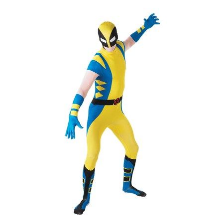 Mens Wolverine Second Skin Halloween Costume](Wolverine Costume Claws Kids)