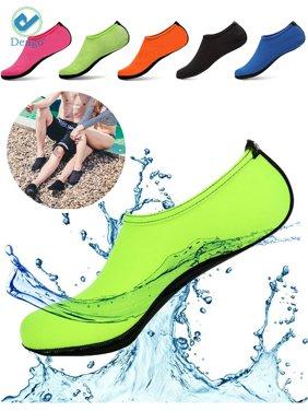 """Deago Men Women Skin Water Barefoot Shoes Aqua Beach Socks Yoga Exercise Pool Swim Slip On Surf """" S size, Green"""""""