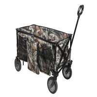 Ozark Trail Camo Print Quad-Folding Wagon with Telescoping Handle