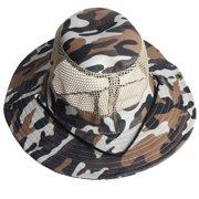 e07a630d0e235 Outdoor Mesh Sunshade Fishing Bucket Hat Cap