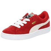 81bfff88be5af1 Puma 355110-03  Suede Junior High Risk Red White Kids Sneaker (5
