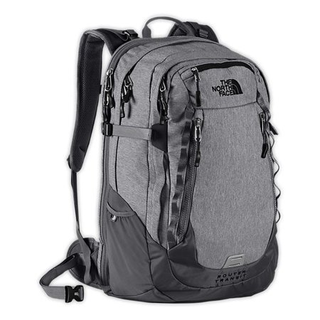 The North Face Router Transit Backpack TSA Laptop Approved Grey Bag ... 07817448547f5
