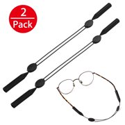 00bf3fcbfc7 2X Glasses Strap Neck Cord Sports Eyeglasses Band Sunglasses Rope String  Holder