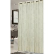 Royal Bath Ez On Fabric Shower Curtain With Built In Hooks Stall Size
