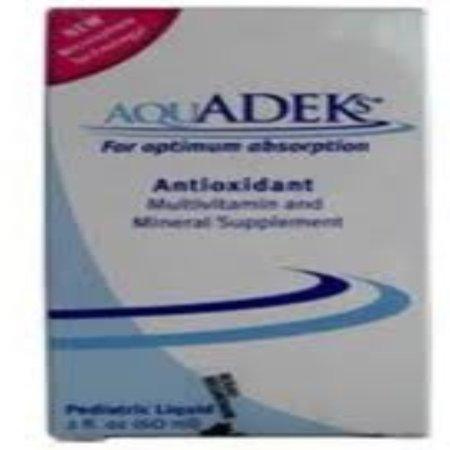 Aquadeks Pediatric Drops, Multivitamin and Mineral Supplement 60