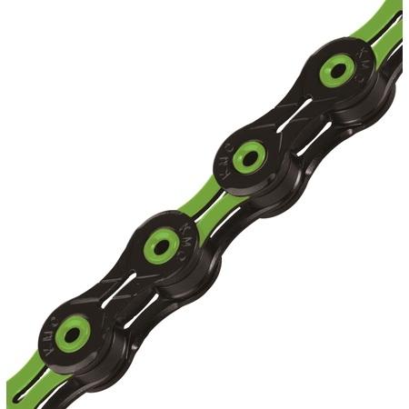 KMC X11SL x 116L, BK/Green 11-Speed Chain