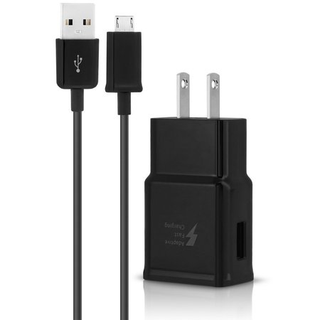 Duo Fast Fasteners (Samsung Galaxy A3 Duos Adaptive Fast Charger Micro USB 2.0 Cable Kit! [1 Wall Charger + 5 FT Micro USB Cable] Adaptive Fast Charging uses dual voltages for up to)