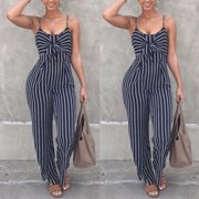 141a6bbfb0da Women's Summer Sleeveless Bodycon Slim Fit Jumpsuit Clubwear Bodysuit Long  Pants