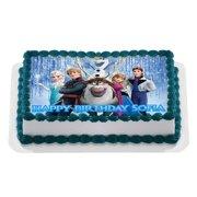 Disney FROZEN Quarter Sheet Edible Photo Birthday Cake Topper Personalized 1 4