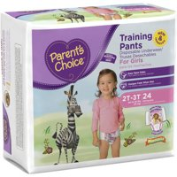 Parent's Choice Training Pants for Girls, Size 3T-4T, 80 Count