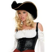 Pirate Hat with Gold Trim Adult Halloween Accessory 7e2c77f75732