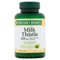 Nature's Bounty Milk Thistle Dietary Supplement for Healthy Liver Support*, Antioxidant Properties, 250mg Capsules, 200 Count
