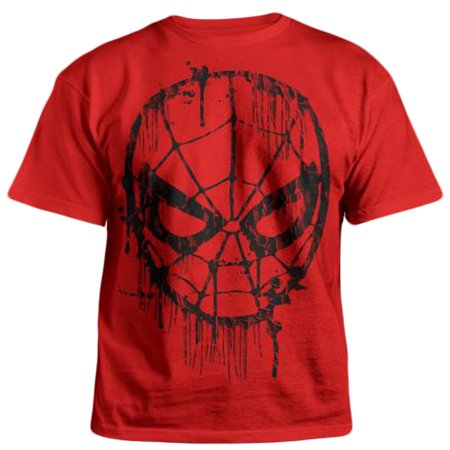 Web Red Shirt - The Amazing Spider-Man Web Head Graphic Youth T-Shirt