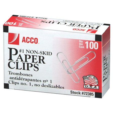 ACCO Economy Paper Clips, 1 Box- 100/Clips (A7072585) - Shaped Paper Clips