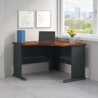 Bush Business Furniture Series A 48W Corner Desk in Hansen Cherry and Galaxy