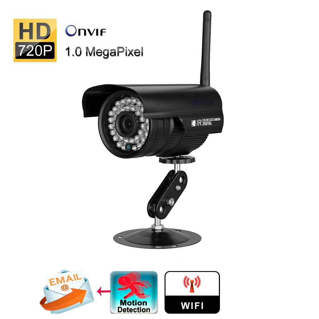 WIFI Wireless Outdoor Surveillance IP Camera Home Security System 720P HD , Weatherproof ,Night Systems
