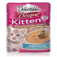(12 pack) Delectables Lickable Treats - Bisque Tuna for Kittens, 1.4 oz.