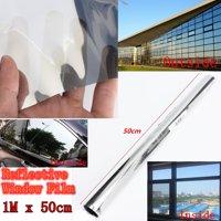 70% VLT Solar Reflective One Way Mirror Privacy Window Film Insulation Stickers Window Decorative
