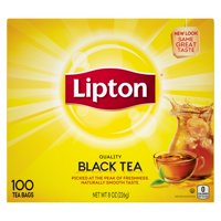 (3 Pack) Lipton 100% Natural Tea Black Tea Bags, 100 ct