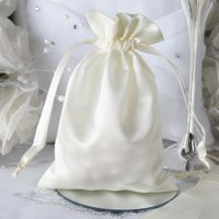 """Efavormart 12PCS Satin Gift Bag Drawstring Pouch for Wedding Party Favor Jewelry Candy Solid Satin Bags - 5""""x7"""""""