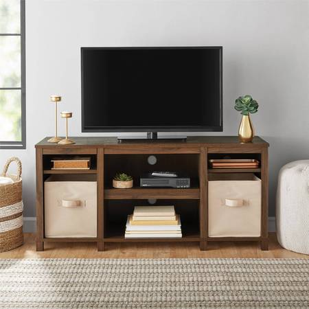 "- Mainstays Parsons Cubby TV Stand, for TVs up to 50"", Multiple Finishes"