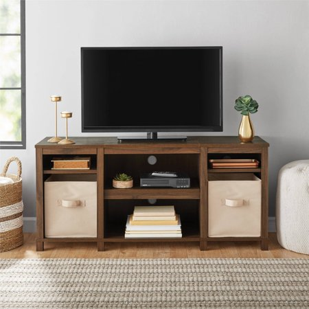 "Mainstays Parsons Cubby TV Stand, for TVs up to 50"", Multiple - Black Painted Center"